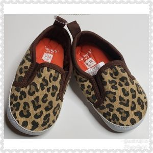 Carter's Girls Animal Print Shoes Sz 9-12 months